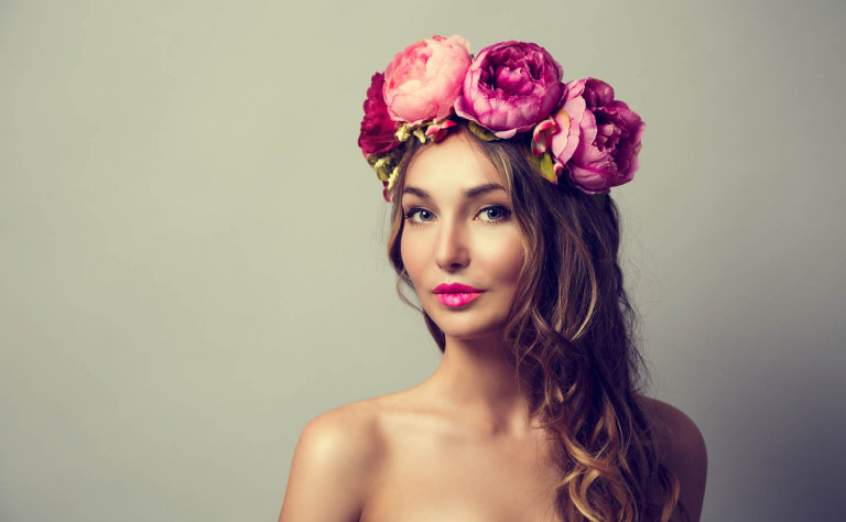 flower crown pink